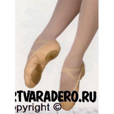 Балетки Grishko кирза, с шнурком, с резинкой, раздельная подошва (мод.6/Р)